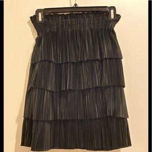 H&M Pleated Black Mini Skirt